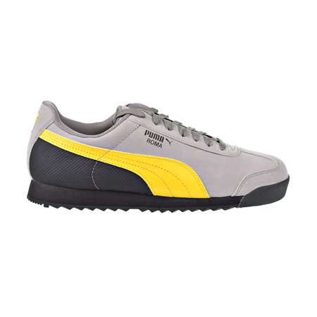 aec80afb281d3 PUMA - Puma Roma Retro Nubuck Men's Shoes Steel Grey/Spectra Yellow/Black  368266-02 - Walmart.com