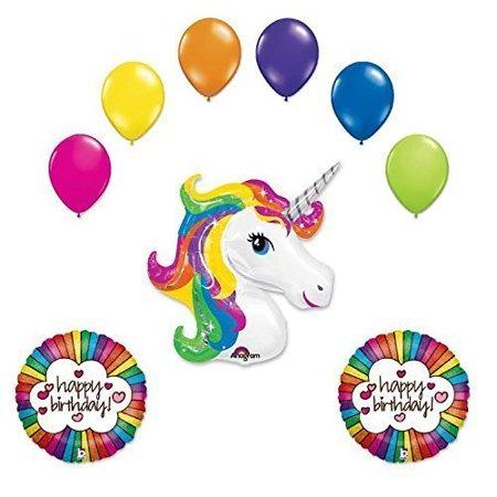 Unicorn 9 Pc Birthday Party Balloon Bouquet