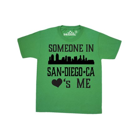 San Diego California Someone Loves Me Skyline Youth T-Shirt