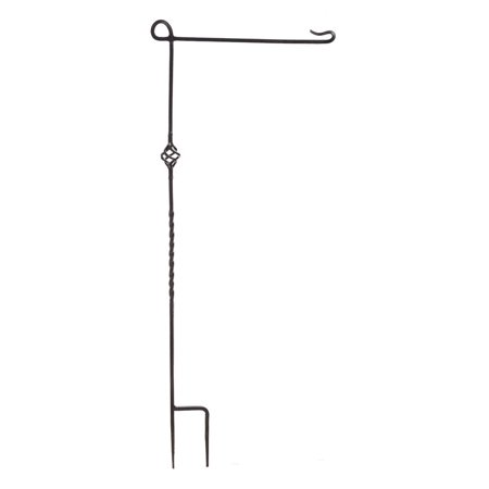Evergreen Cast Steel Garden Flag Stand, Hang your flags proudly in your yard or garden with this unique metal flag stand By Evergreen Flag from USA