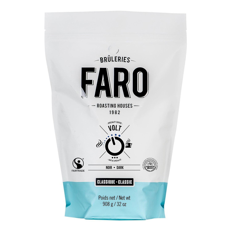 Faro Roasting Houses Faro Classic Volt 2-pound Intense, Very Dark, Fair Trade, Certified Organic Ground Coffee Beans