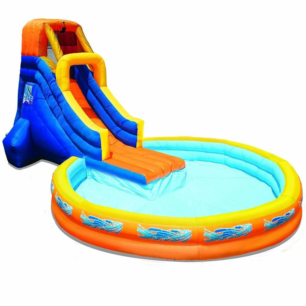 Banzai The Plunge Waterslide Water Toy with Attached 12ft Diameter Pool, Perfect for Summer, Pool Parties Blower Motor... by Banzai