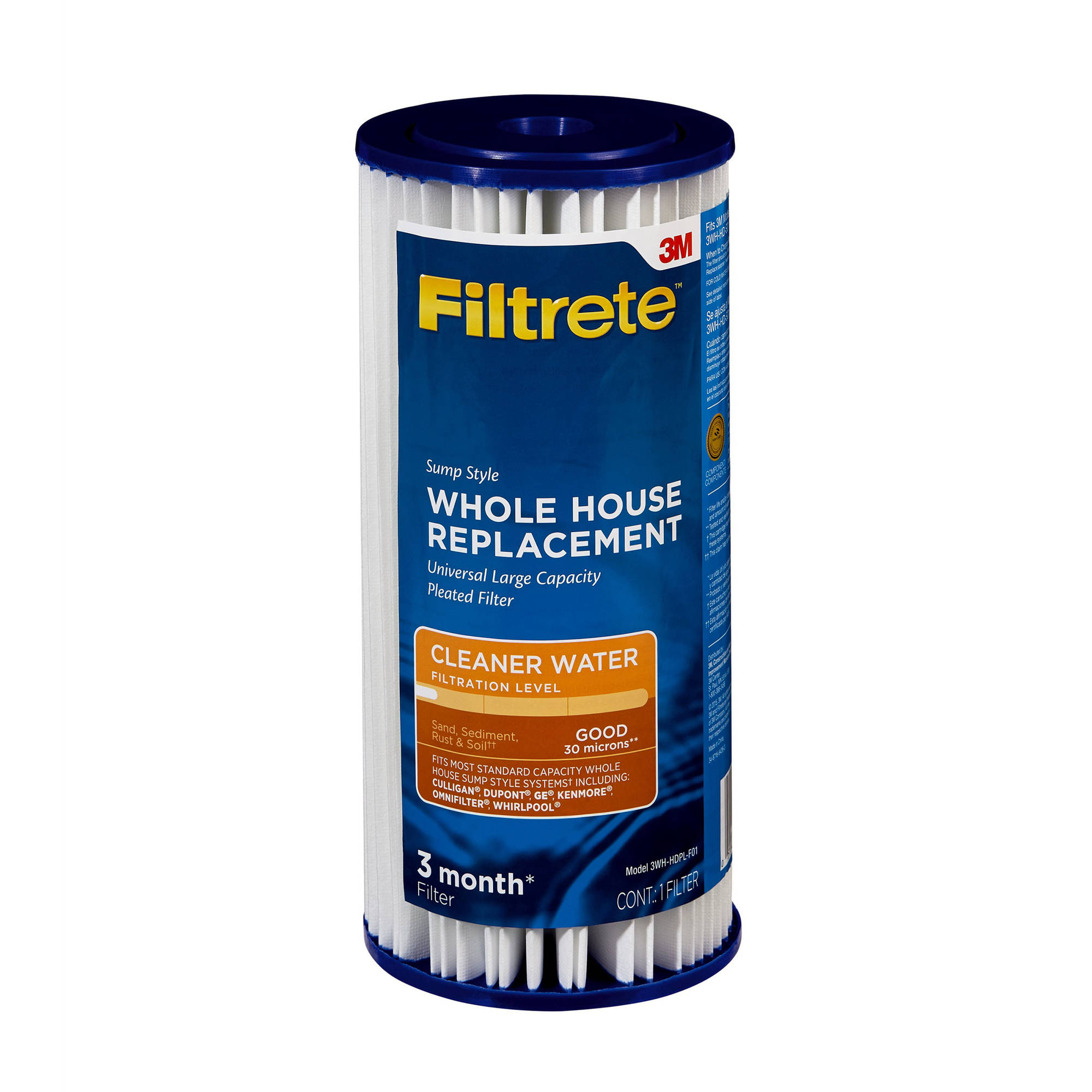 "Filtrete"" Large Capacity, Pleated Replacement Filter, Sump Style (sediment - good) - 1 pack"