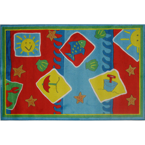 Fun Rugs Jade Reynolds Beach Blanket Kids Rug