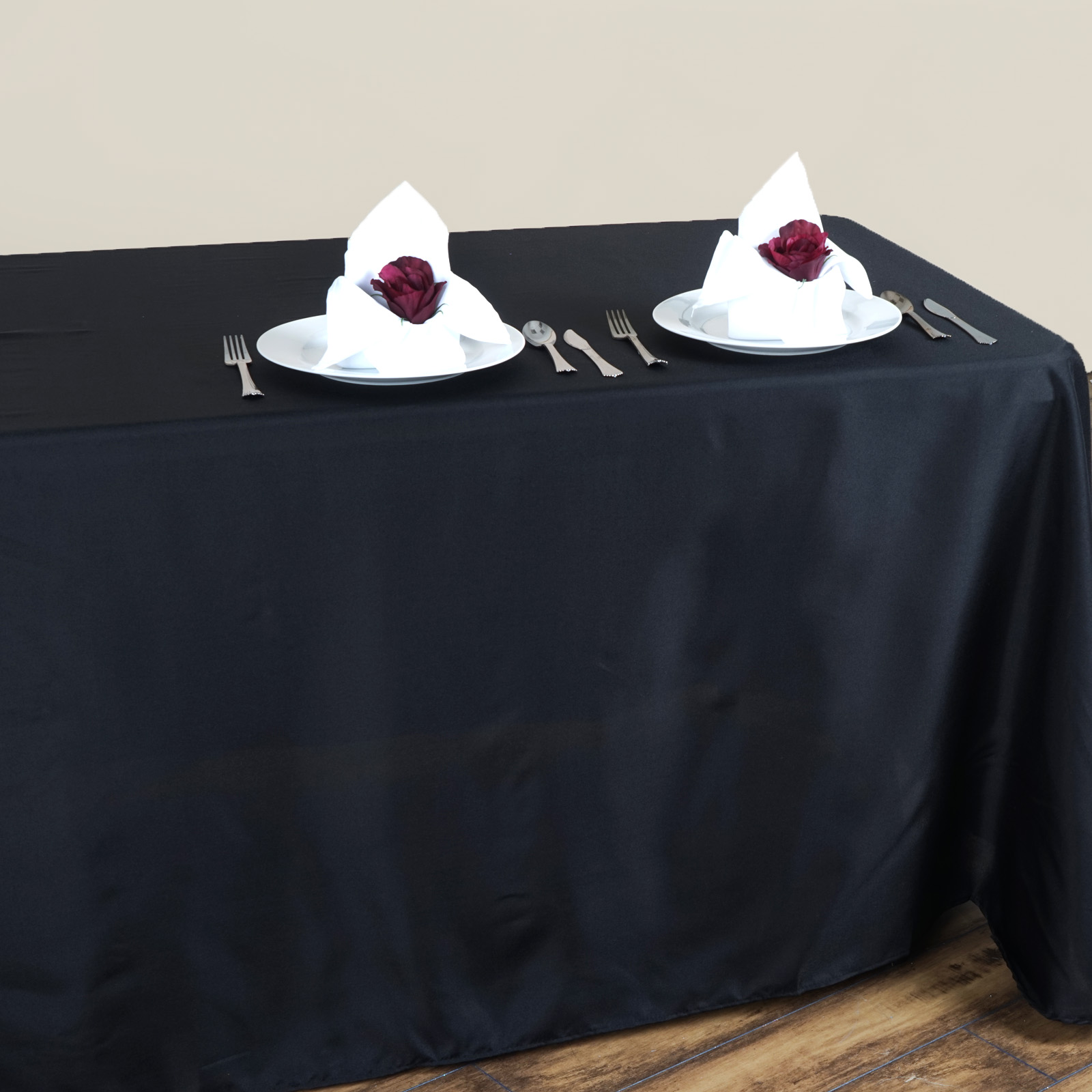 """BalsaCircle 90"""" x 132"""" Polyester Rectangular Tablecloth with Rounded Corners for... by BalsaCircle"""