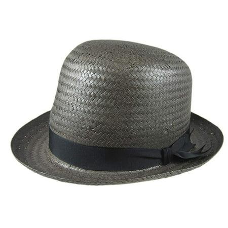Stetson Derby Grey Straw Hat Fedora Size Medium R Oval - Walmart.com f4bbe48ad55