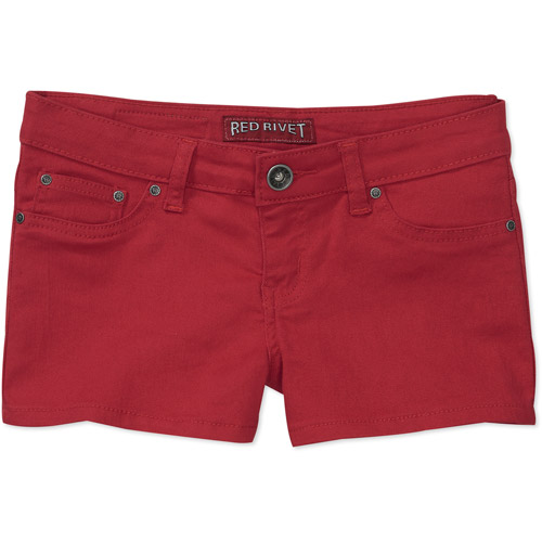 Red Rivet Juniors Basic Colored Jean Shorts