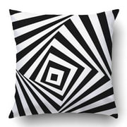 RYLABLUE Black And White Optical Illusion Stock Pillowcase Pillow Cushion Cover 18x18 inch