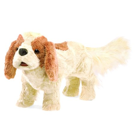 Cavalier King Charles Spaniel Hand Puppet, Easily animate the antics of this engaging Cavalier King Charles Spaniel plush hand puppet By