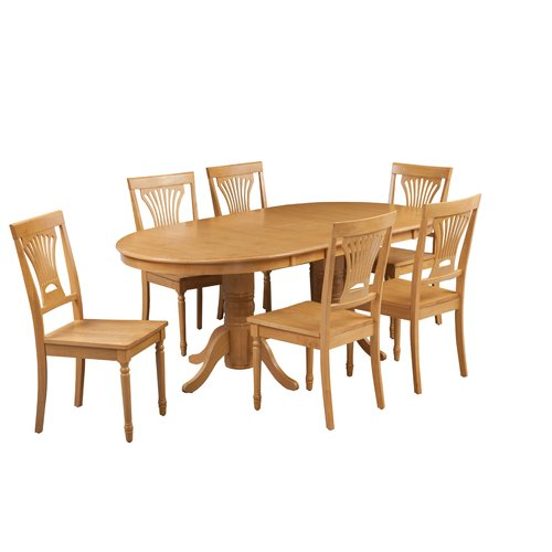 August Grove Devitt 7 Piece Extendable Solid Wood Dining Set