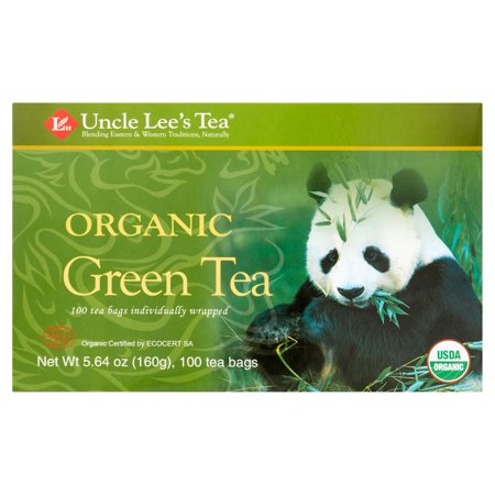 (4 Boxes) Uncle Lee's Tea, Organic Green Tea, 100
