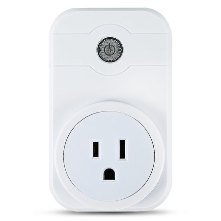 WiFi Smart Socket, APP Remotely Control Timer Switch For Household Appliances Through IOS / Android White