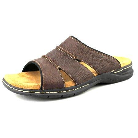 87c24a9cb14a Dr. Scholl s Shoes - Dr. Scholl s Gordon Men Open Toe Leather Brown Slides  Sandal - Walmart.com