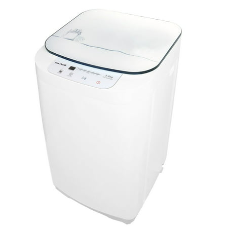 Compact Washing Machine, KAPAS Fully Automatic 2-in-1 Washer & Spin Dry Machine with 8 lbs Capacity Top Load Tub (Lg Vs Samsung Top Loading Washing Machine)