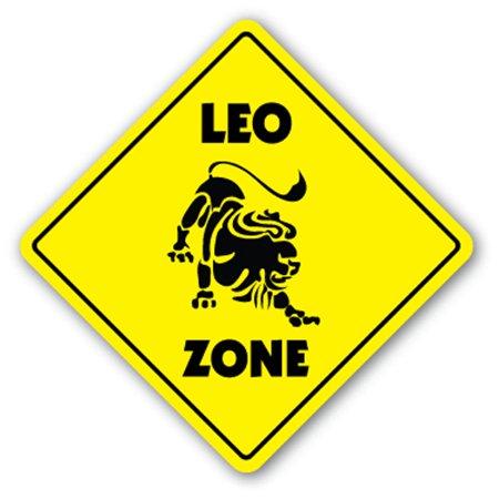 Leo Zone Sign Novelty Gift Zodiac Horoscope Kid Child Boy Girl Wall Entry