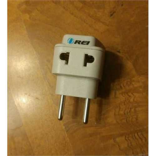 OREI Universal 2 in 1 Plug Adapter Type C for Europe, Turkey and More, High Quality, CE Certified - RoHS Compliant (WP-C-GN)