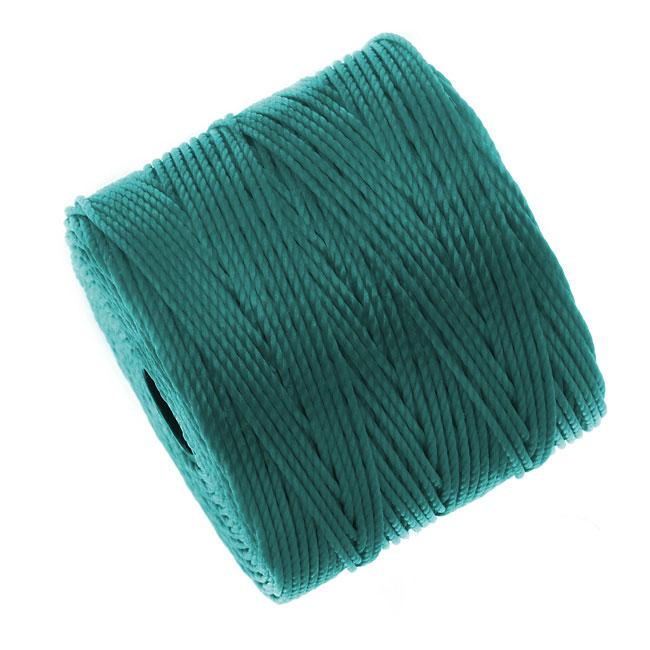 BeadSmith Super-Lon (S-Lon) Cord - Size #18 Twisted Nylon - Teal (77 Yard Spool)