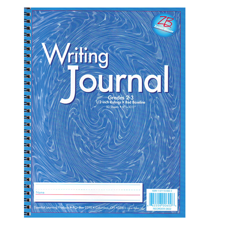 Essential Learning Products 8 x 10.5 Inch My Writing Journals - Grades 2-3, Blue