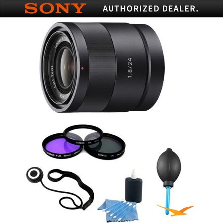 Sony SEL24F18Z Carl Zeiss 24mm f/1.8 E-Mount Lens Essentials Kit w/ Filter Kit &