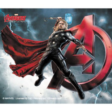"""AVENGERS AGE OF ULTRON THOR A, Officially Licensed Original Artwork, 4"""" x 5"""" - Sticker DECAL"""