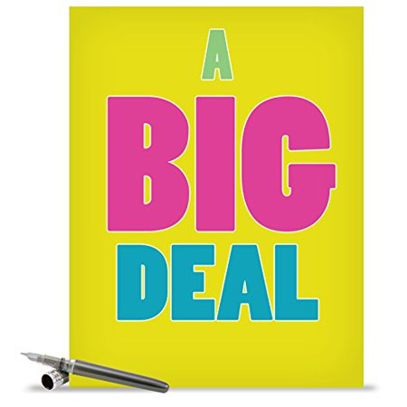 - J1430K Jumbo Funny All Occasions Card: 'A Big Deal' with Envelope (Extra Large Size: 8.5