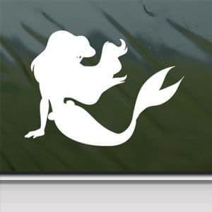 Mermaid Decal | Premium White Vinyl Decal | Ariel | 5.5-Inches Wide](Ariel Decorations)