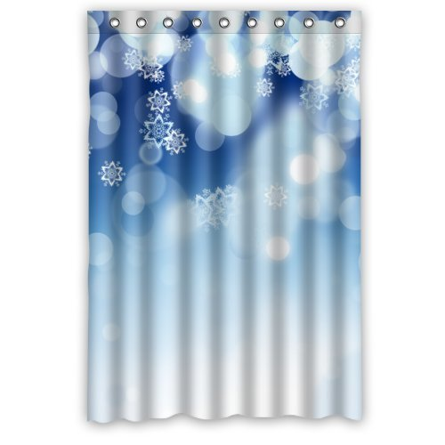 GreenDecor Christmas Waterproof Shower Curtain Set with Hooks Bathroom Accessories Size 48x72 inches