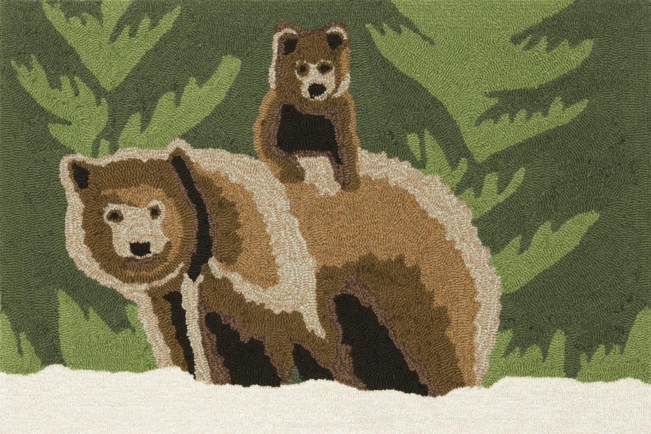 Trans-Ocean Rug Frontporch Bear Family Doormat by Supplier Generic