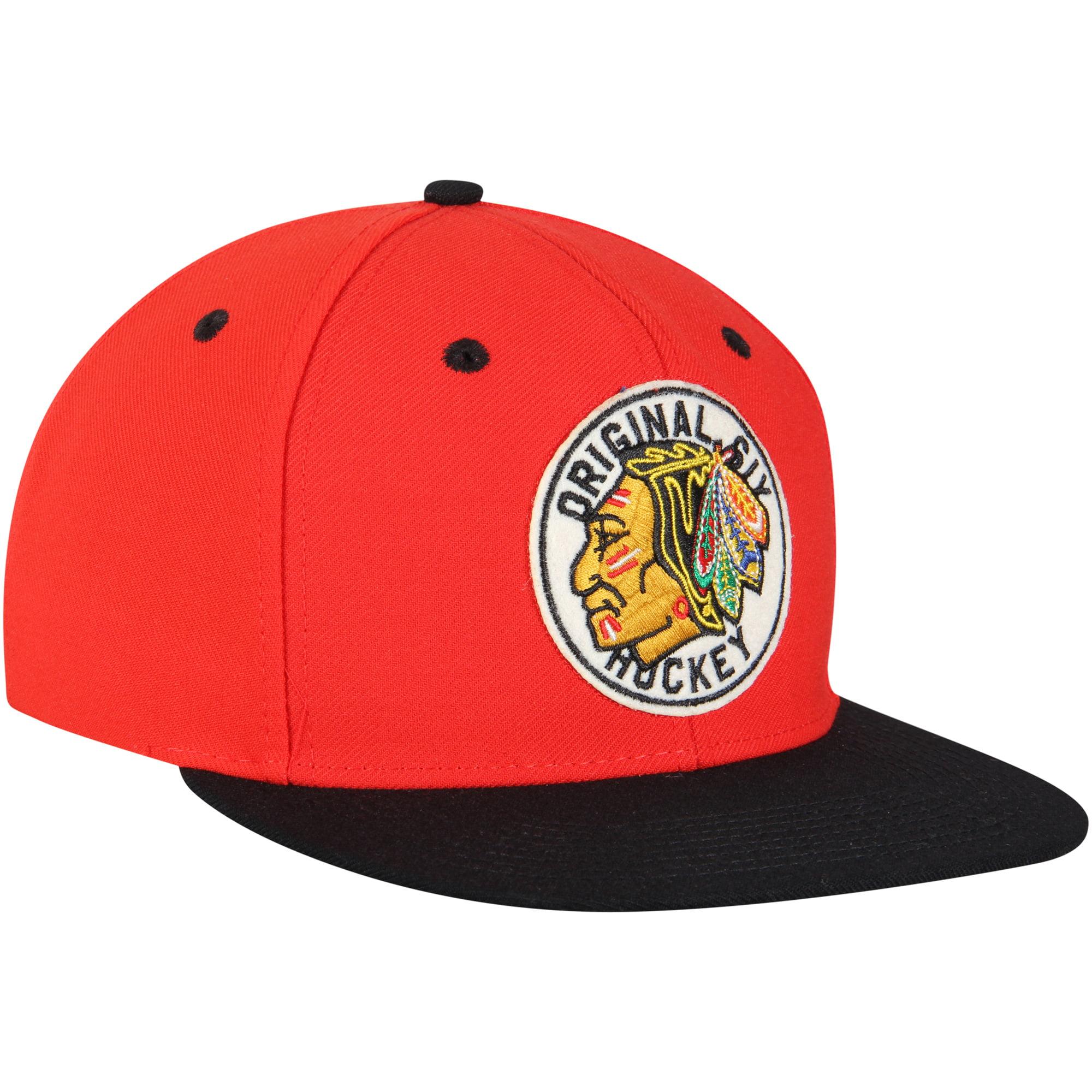 Chicago Blackhawks adidas Original Six Flat Brim Snapback Adjustable Hat -  Red - OSFA - Walmart.com 0845c3f51f21