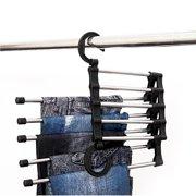 Pants Folding Hanger Organizer Tie Trousers Scarf Belt Storage Rack