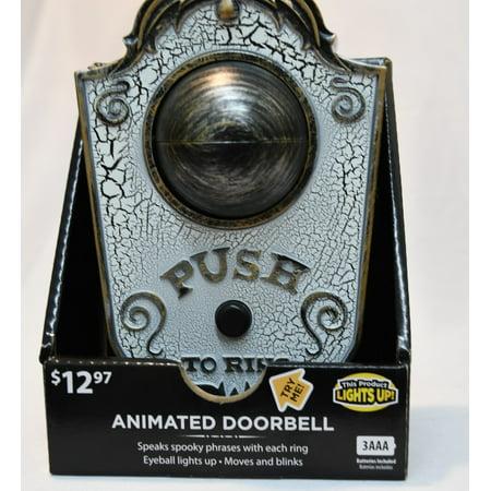 Gemmy Animated Doorbell Halloween Decoration - Animated Halloween Movies