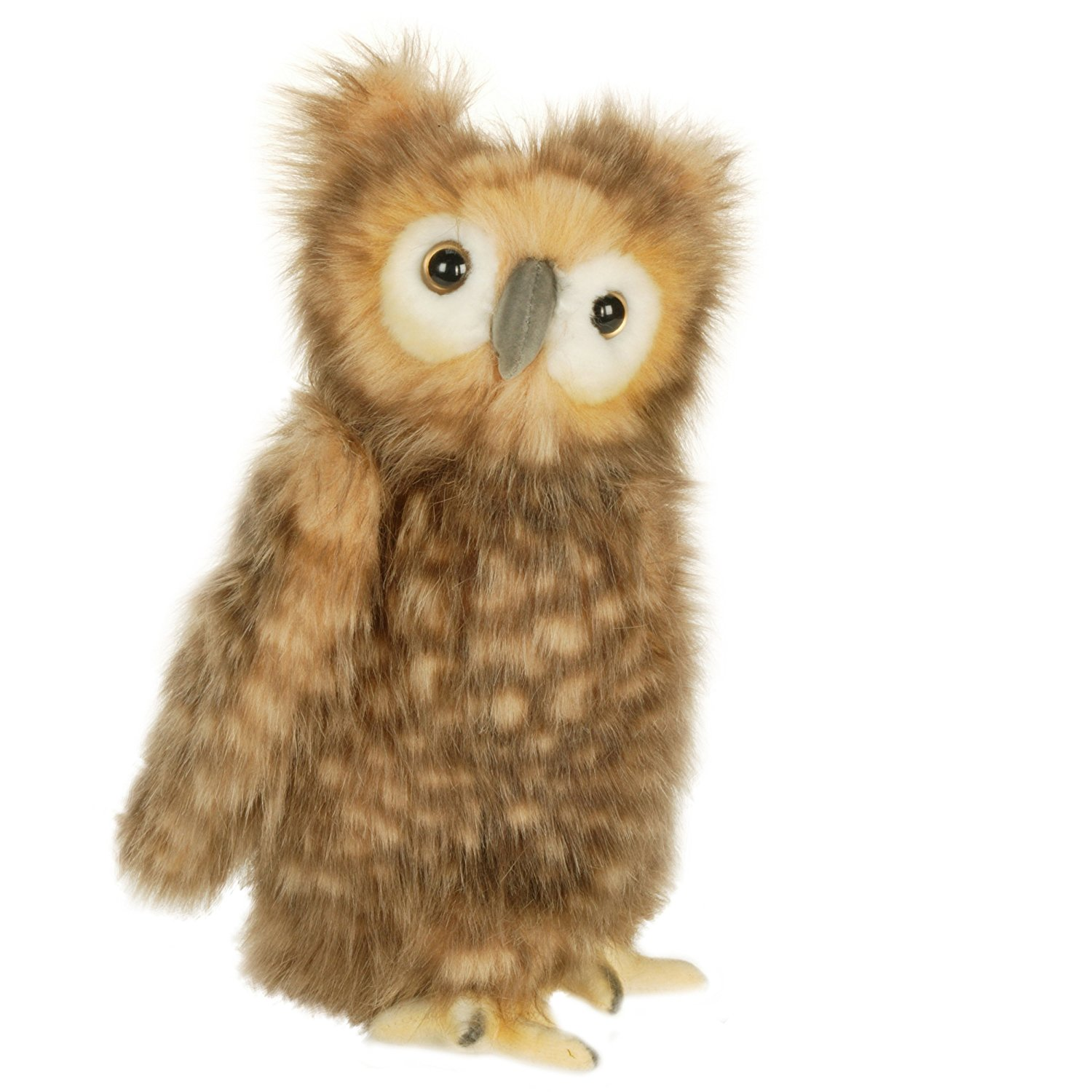 """Plush - 10"""" Youth Brown Owl, Handcrafted, highly realistic and very cuddly plush toy By Hansa Ship from US"""