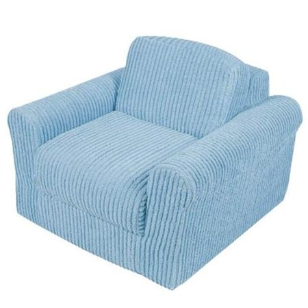 Kid's Chenille Chair Sleeper-Color:Blue