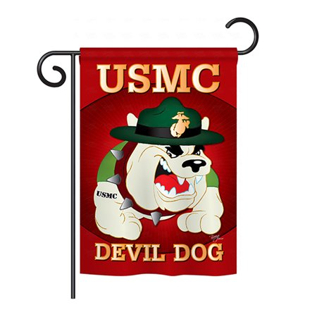Breeze Decor G158052 Devil Dog Americana Military Impressions Decorative Vertical Garden Flag 13