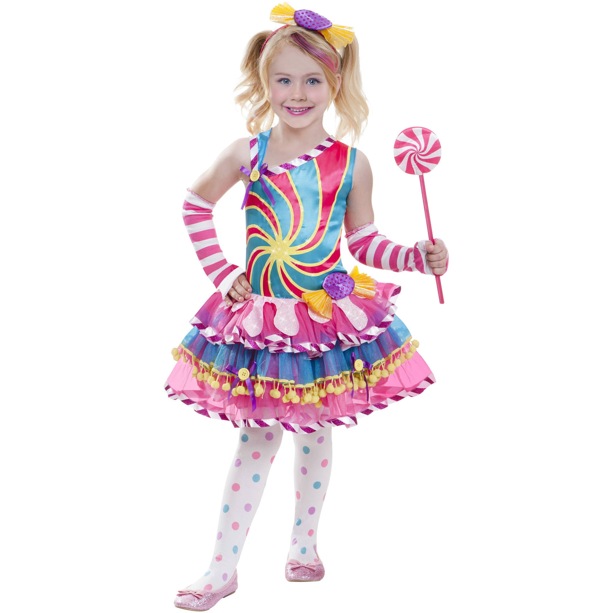candy girl child halloween costume walmartcom - Walmart Halloween Costumes For Baby
