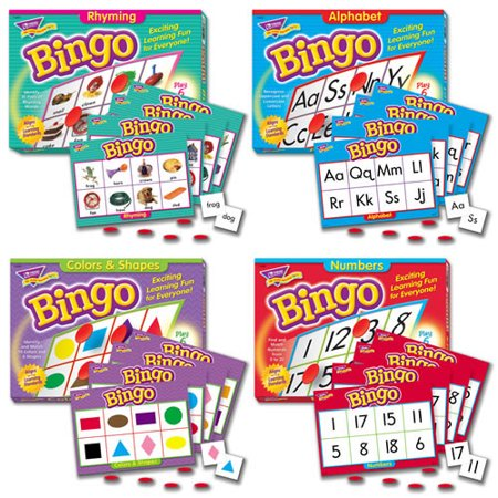 Bingo Games Set of 4 - Bingo Game Set