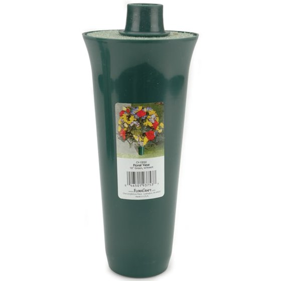 Cemetery Vase With Styrofoam Insert 12 Inches Walmart