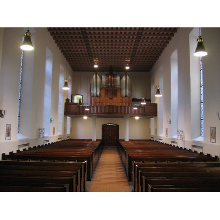 LAMINATED POSTER Pew Church Pews Organ Nave Luther Church Poster Print 24 x 36 ()