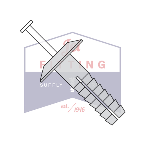 "1/4"" x 1 1/2"" Plastic Drive-Pin Anchor Rivets | All Nylon 2 Piece | Truss Head | Body: Nylon 6/6 Impact Modified | Pin: Nylon 6/6 Impact Modified - GREY (Quantity: 1000)"