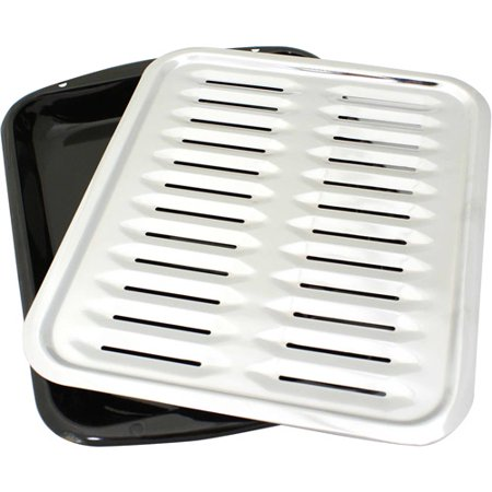 Range Kleen Porcelain Stick-Free Broiler Pan With Chrome (Best Grill Pans With Presses)