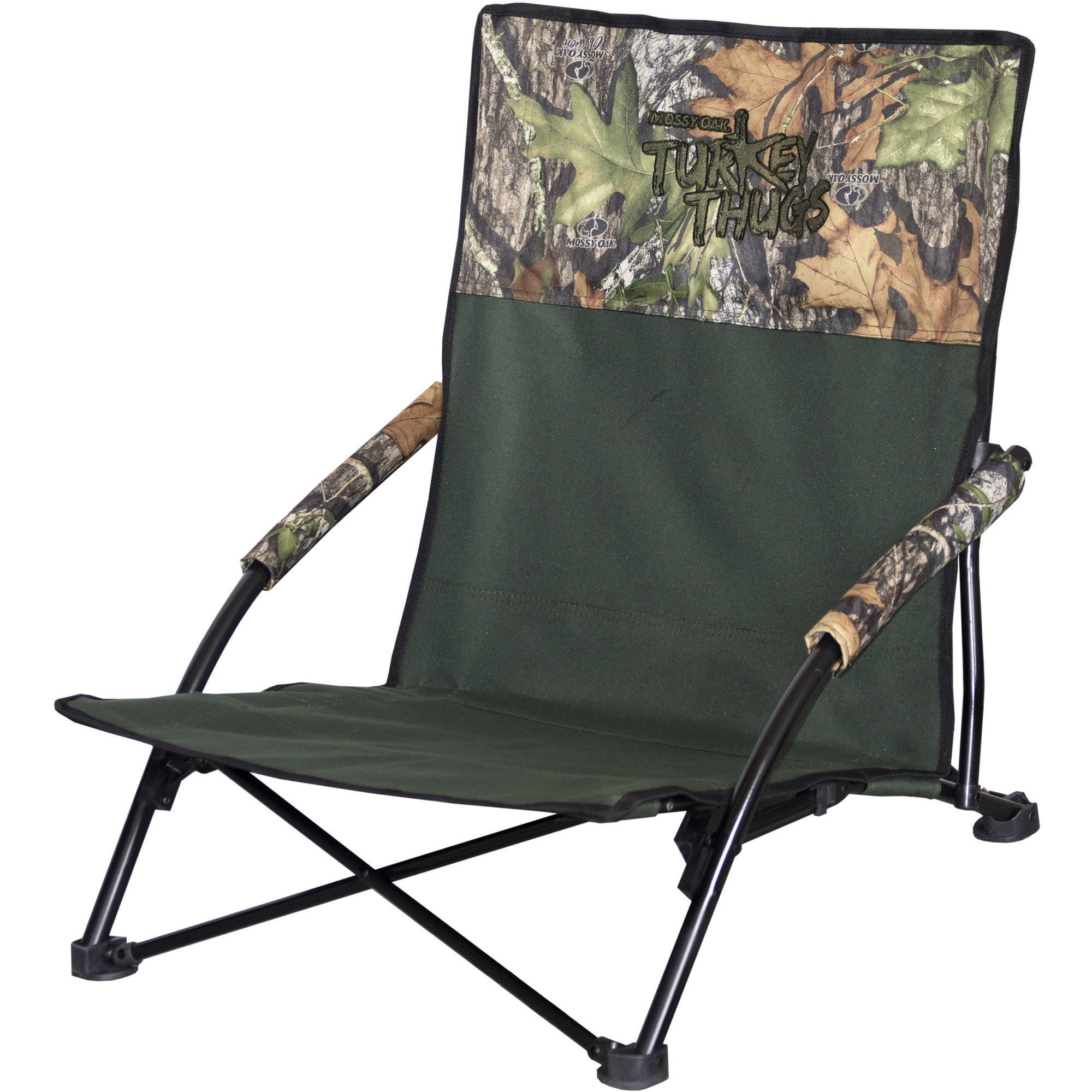 Mossy Oak Turkey Thugs Turkey Hunting Outdoor High Back Folding Camping Chair