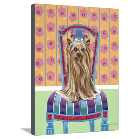 Crown Princess Yorkie Stretched Canvas Print Wall Art By Carolee Vitaletti