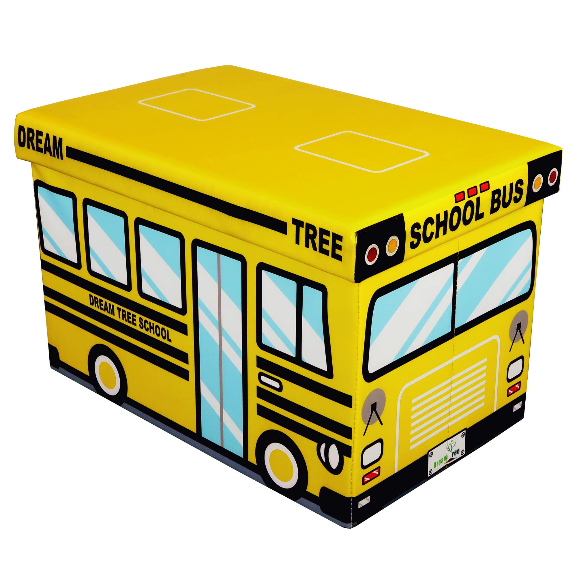 Otto & Ben 16 Inch Toy Storage Chest Organizer, School Bus