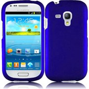 Hard Rubberized Case for Samsung Galaxy S3 Mini - Blue