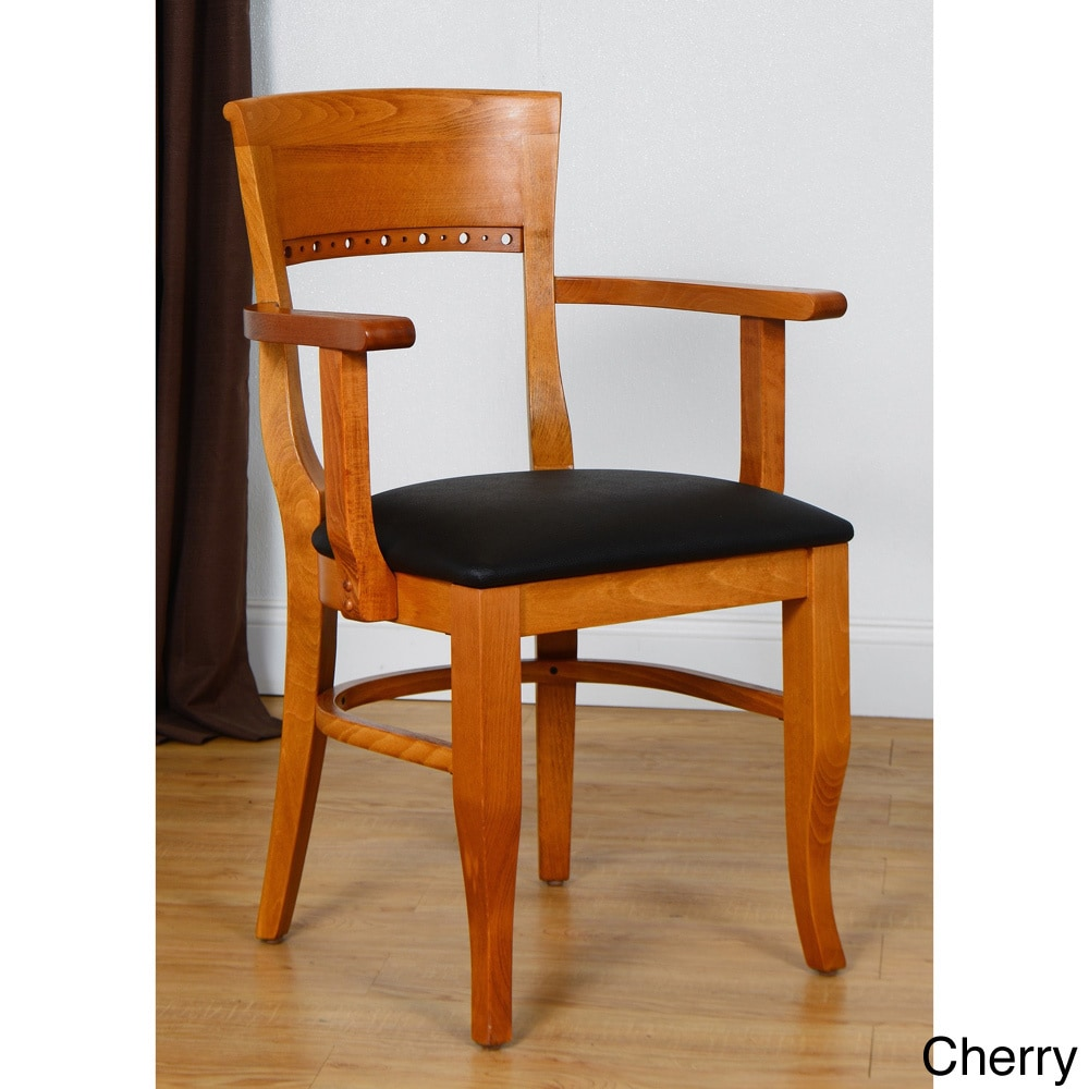 Beechwood Mountain LLC Biedermier Wooden Chair With Arms by Overstock