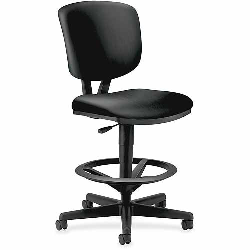 HON Volt Leather Task Stool, Black