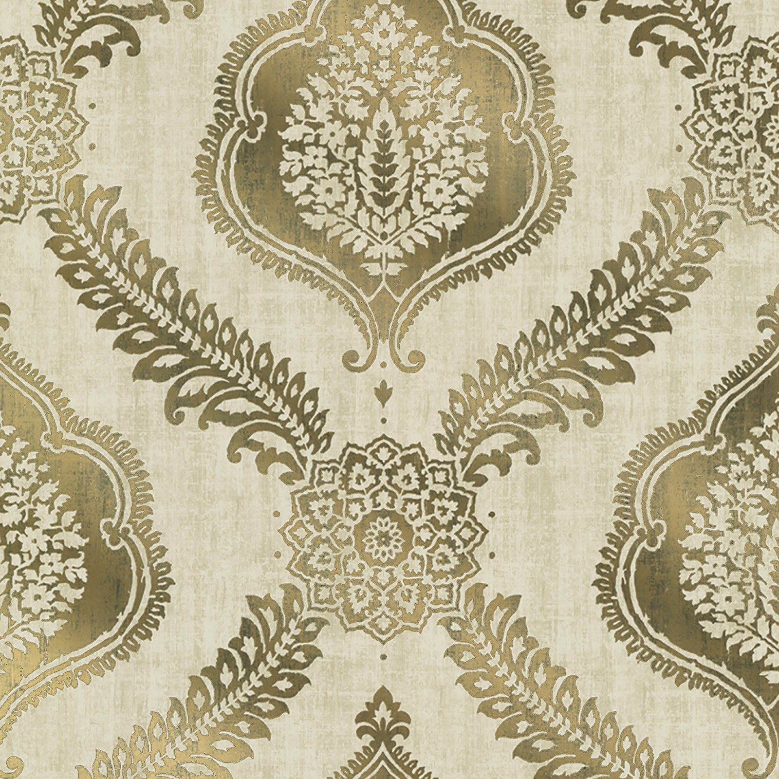 Kenneth James Zoraya Damask Wallpaper