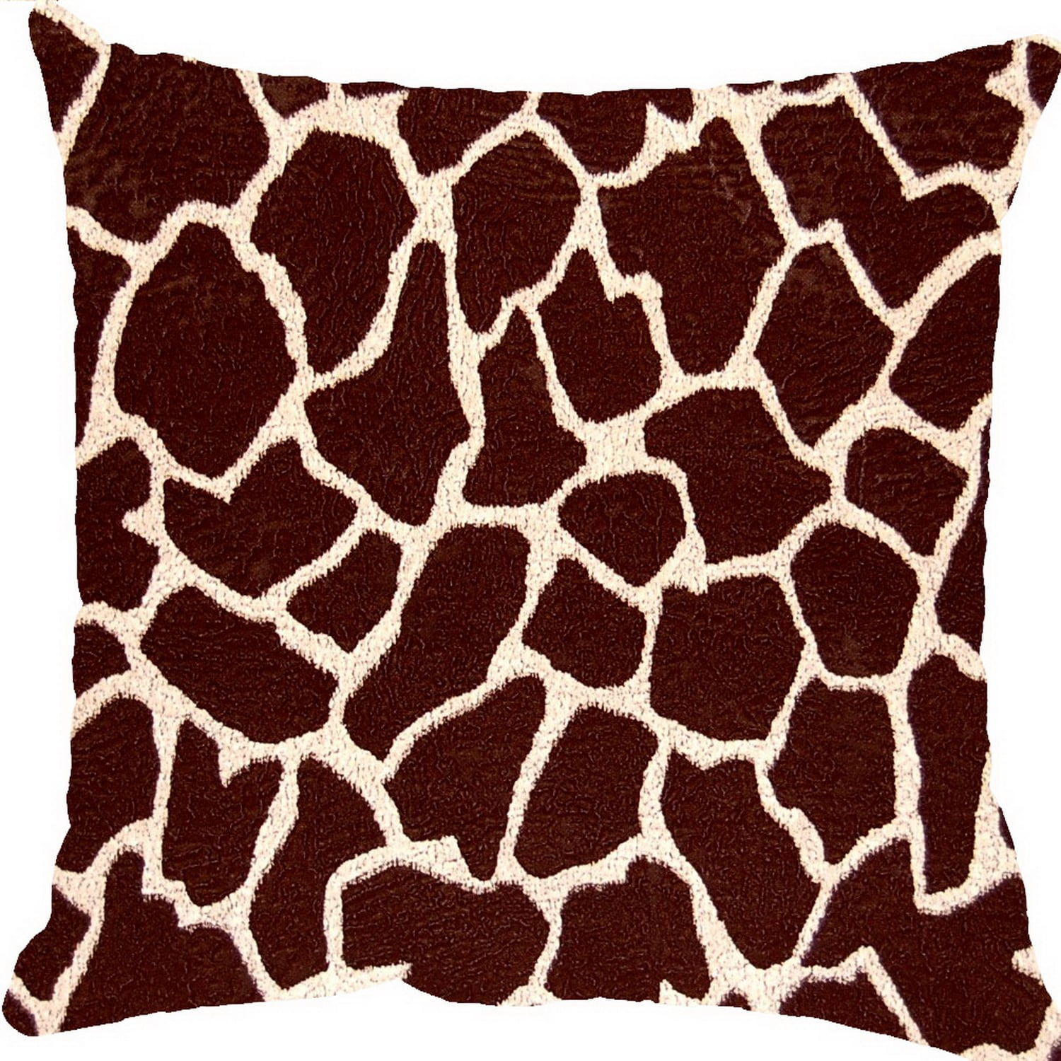 Fox Hill Trading Giraffe Bitter 17-inch Throw Pillows (Set of 2)