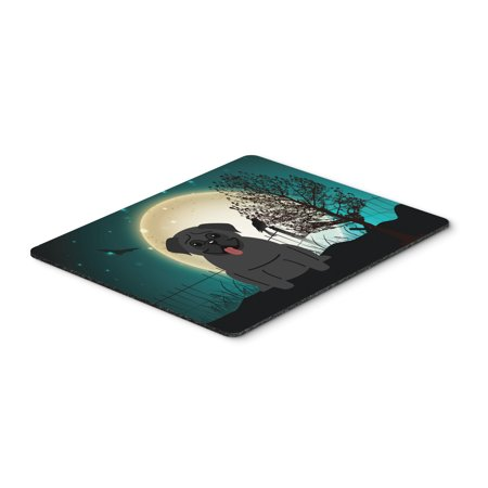 Halloween Scary Pug Black Mouse Pad, Hot Pad or Trivet BB2196MP (Halloween Pugs)