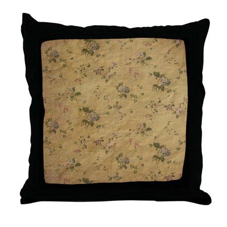 Antique Floral Throw (CafePress - Vintage Antique Rustic Floral Garden Old Paper Thr - Decor Throw Pillow (18